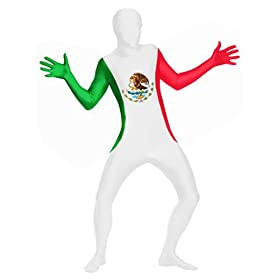 - 31nB tPkJXL - SecondSkin Men's Full Body Spandex/Lycra Suit with Mexico World Flag Design