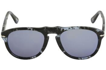 Greymirrorbluee Dark Persol Spotted Sonnenbrille PO0649 Bleu Bluette Grey Cqwp0g7xw