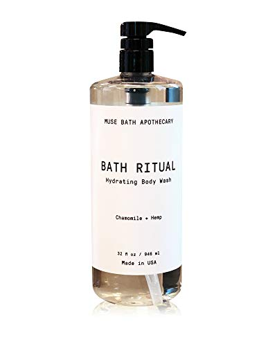 Muse Bath Apothecary Bath Ritual - Aromatic and Hydrating Body Wash, 32 oz, Infused with Natural Essential Oils - Chamomile + Hemp ()