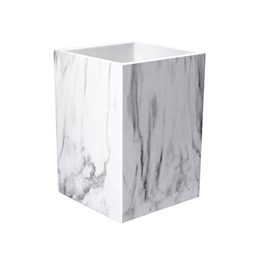 UNIQOOO Marble Print Desk Pen and Pencil Holder Case Box with Fashionable Modern Design in Elegant Matt Finish- Beautiful Stationery for Daily Use in Office, Classroom, Home, Gift Idea