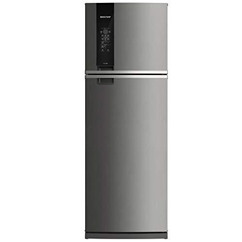 Geladeira Brastemp Frost Free Duplex 478 litros cor Inox com Freezer Control Advanced 220V
