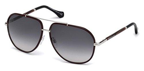 Sunglasses Balenciaga BA 62 BA0062 69B shiny bordeaux / gradient smoke