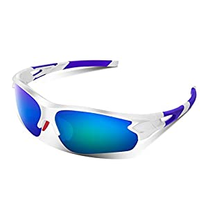 Bea·CooL Tac Polarized sports sunglasses for Men Women Kids BMX Baseball Cycling Military Motorcycle Fishing with unbreakable 100% UV400 Lens
