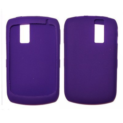 Premium Thick Durable Dark Purple Silicone Soft Rubber Skin Cover Case for RIM Blackberry Curve 8330, 8300, 8310, 8320 [Accessory Export Packaging]