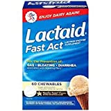 LACTAID Fast Act Chewables Vanilla Twist 60 ea (Pack of 2)
