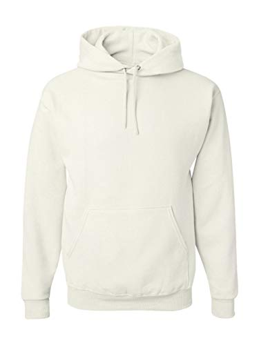 Jerzees Cotton Pullover - Jerzees 8 oz. NuBlend 50/50 Pullover Hood, White - Large