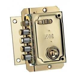 FAC 11006 - Cerradura s-90 izquierda dorada