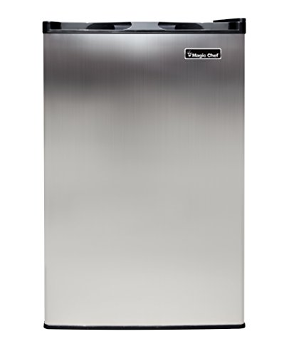 Magic Chef MCUF3S2 3.0 cu. ft. Upright Freezer in Stainless Steel (Spt 2-4 Cu Ft Compact Refrigerator Stainless Steel)