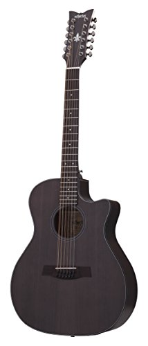 Schecter 3714 12-String Acoustic-Electric Guitar, Satin See-