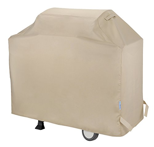 "SunPatio Heavy Duty Waterproof Barbecue Gas Grill Cover, 55-inch BBQ Cover, Durable and Convenient, Fits Grills of Weber Char-Broil Nexgrill Brinkmann and More, 55""x23""x42"", Desert Sand"