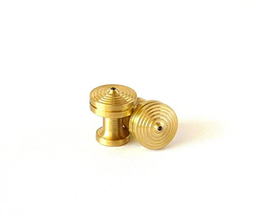CUFFLINK SPINNING TOPS - BRASS - Hand Machined Cufflinks - MADE IN THE USA