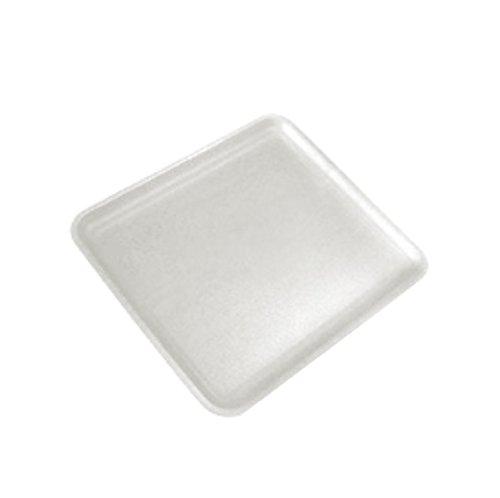 1/2 Inch White Foam Meat Tray - CKF 12SWH, 12S White Foam Meat Trays, Disposable Standard Supermarket Meat Poultry Frozen Food Trays, 100-Piece Bundle