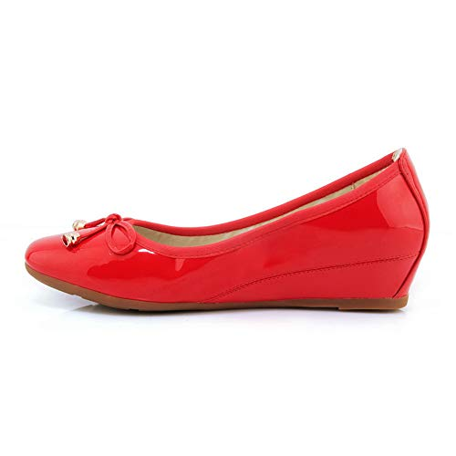 Sandales Femme AdeeSu SDC05981 Compensées Red w887qC5aR