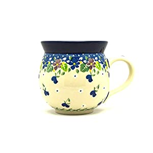 Polish Pottery Mug – 11 oz. Bubble – Plum Luck