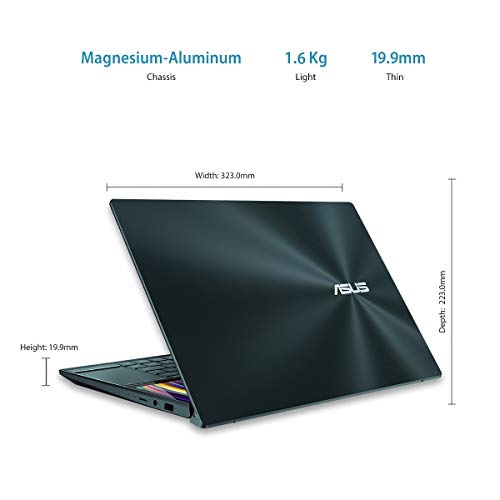 ASUS ZenBook Duo Intel Core i5-10210U 10th Gen 14-inch FHD Thin and Light Touch Laptop (8GB RAM/512GB NVMe SSD/Windows 10/MS Office 2019/2GB NVIDIA GeForce MX250 Graphics/1.60 Kg), UX481FL-HJ551TS