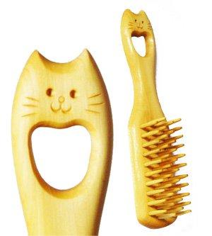 Neko (Cat) Tsuge Boxwood Brush brush by Chidoriya