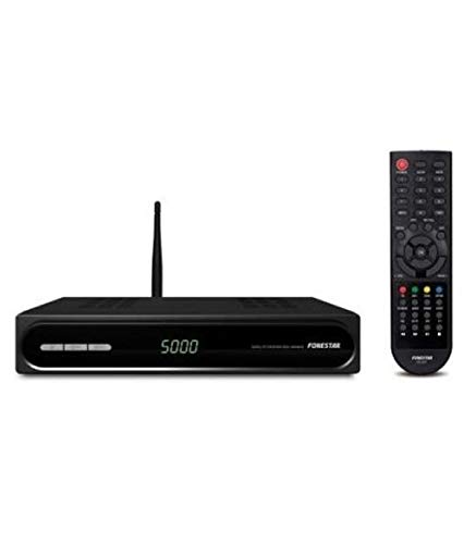 Fonestar RDS-584WHD – Receptor Satélite HD, WiFi, USB 2.0, Ethernet, 12 V DC, 1 A con adaptador incluido, Negro, 220 x…