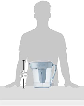 Zero Ready Pour Blue Pitcher 10Cup 35 Ounce 10 Cup White