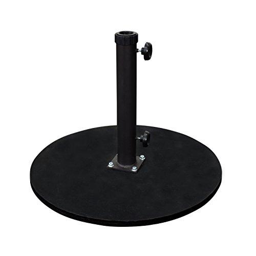 California Umbrella 95 lbs. Round Cast Iron Umbrella Base, Black Frame ()