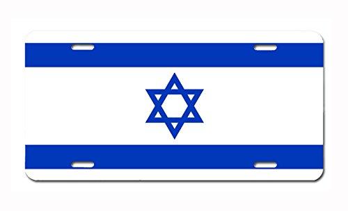 Carpe Diem Designs Israel Flag License Plate, Made in The U.S.A. ()