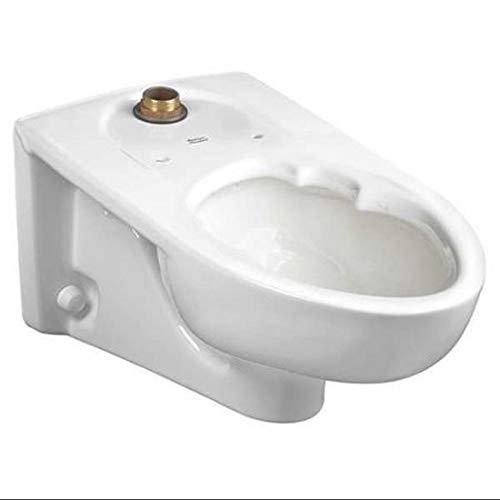American Standard 3352101.020 Afwall Millennium Elongated Toilet Bowl, White American Standard Afwall Wall