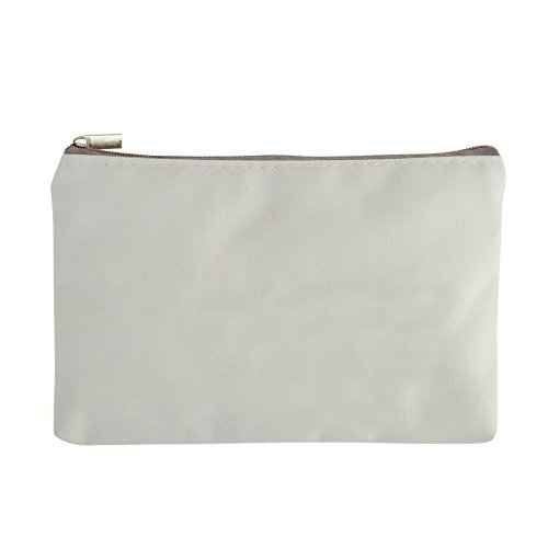 Aspire 1 Dozen Blank Canvas Zipper Bags Painting, DIY Fabric Bag, 6 3/4