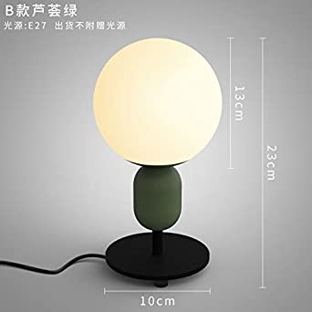 YU-K Lámpara de mesa creativa lámpara de mesilla dormitorio ...