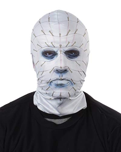 Faux Real Unisex-Adult's FR Hellraiser Pinhead Mask, White, OSFM