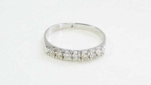 Eternity Wedding Band-Diamond Engagment Ring-wedding band white gold -Diamond Band, Anniversary Gift - Half-Eternity Ring-wedding band women