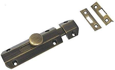 Carlisle Cerradura de latón AQ81 de 102 mm para puerta corredera, con 3 estilos de sujeción,