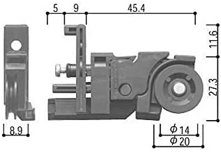 YKKAP メンテナンス部品 網戸用戸車 (HH-T-XMH1) DG:ダークグレイ *製品色・形状等仕様変更になる場合があります*