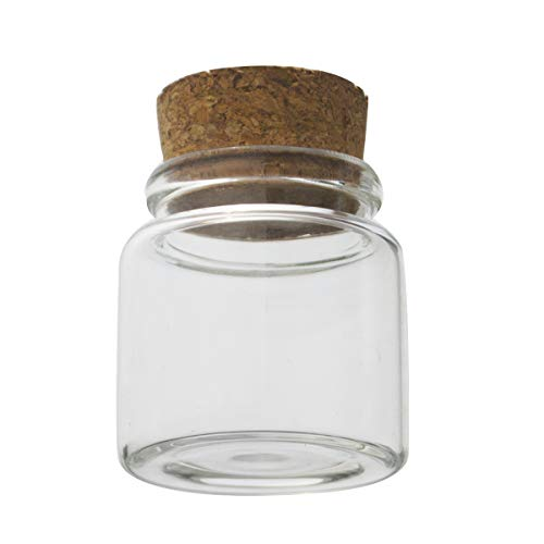 5pcs of 50 ml small glass vials with cork tops tiny bottles Little empty jars 4750mm by ELYSAID