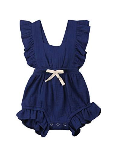 01bb7c5a4 lantusi New Baby Girls Bodysuits Newborn Floral Ruffle Climbing Romper  Rompers