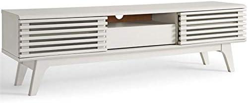 Levan Home Mid Century Modern Low Profile 59″ Retro TV Stand