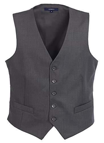 Gioberti Mens 5 Button Formal Suit Vest,