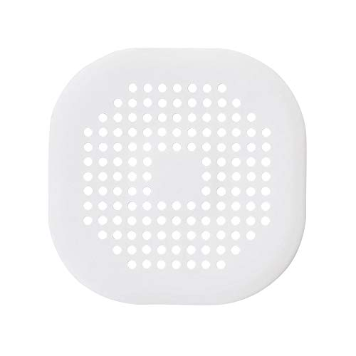 FOXNSK Hair Cather, Silicone Bath Sink Basin Shower Drain Cover with Sucker for Bathroom Kitchen, Rubber Bathtub Sink Strainer Plug Filter Trap (White)