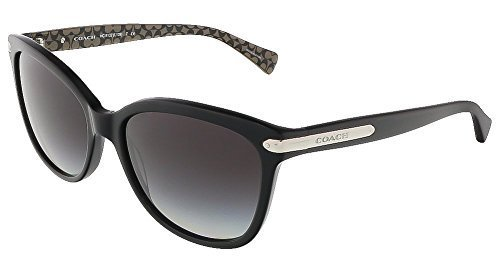 Coach Womens L109 Sunglasses (HC8132) Black/Brown Acetate - Polarized - 57mm by Coach