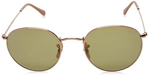Ray-Ban Mens Metal Round Sunglasses, Gold, 53 mm