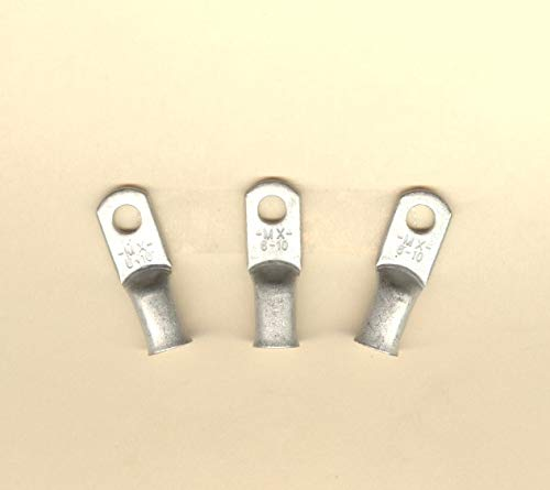 10 Big Tin Plated Copper Ring Terminal Connector Battery Lug #6 Wire Gauge #10 Stud Molex 19221-0424