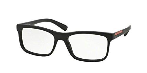 Prada PS05FVF Eyeglass Frames 1BO1O1-55 - Matte Black - Eyeglasses 2016 Prada