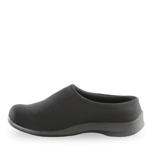 Comfort Slip Women's Aetrex Black Essence Stretch Clog Shoes on xanFtnWz