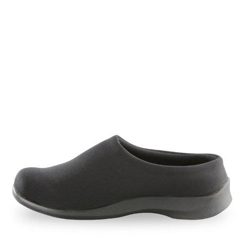 Aetrex Womens Essence Stretch Comfort Klomp Instapschoenen Zwart