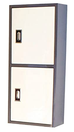 Grey and White Luxo Marbre CALIFORNIA 1032 GL California Side Cabinet