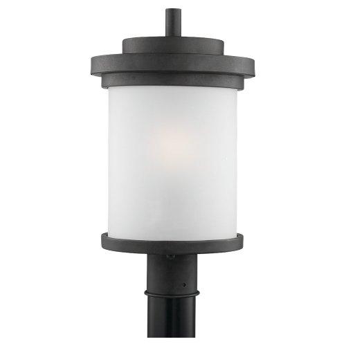 (Sea Gull Lighting 82660-185 Winnetka-Outdoor One-Light Outdoor Post Lantern Forged Iron, Forged Iron)