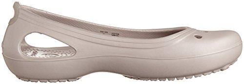 Crocs Kadee - Zapatos de punta redonda para mujer Platinum/Platinum