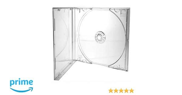 Cajas de CD/DVD Dragon Trading® de 10,4 mm para 1 disco con carcasa transparente (paquete de 100 unidades)