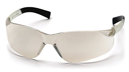 Pyramex Mini Ztek Safety Eyewear, Indoor/Outdoor Mirror Lens With Indoor/Outdoor Mirror Frame