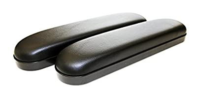 Wheelchair Armrest Pad Vinyl (Desk Length 10 inches, Black) Pair