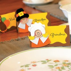 Thanksgiving Place Card Craft Kit for 12 Guests