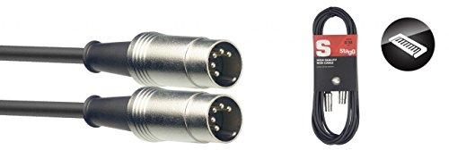 Stagg SMD10 Metal MIDI-Kabel (10m, DIN-Stecker-auf-DIN-Stecker)